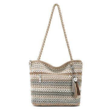 The Sak Shopper Crochet Sand Stripe Hobo