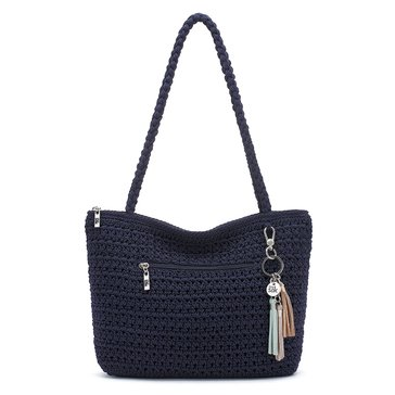 The Sak Shopper Crochet Navy Hobo