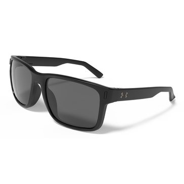 Under Armour Assistan STN Black Gray Lens Sunglasses