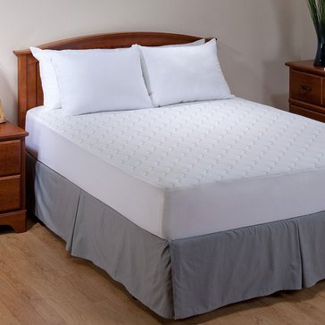 Allergen Barrier Memory Foam and Fiber Mattress Pad - Queen