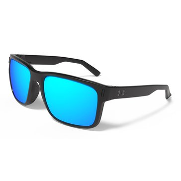 Under Armour Assistan STN Black Gray With Blue Lens Sunglasses