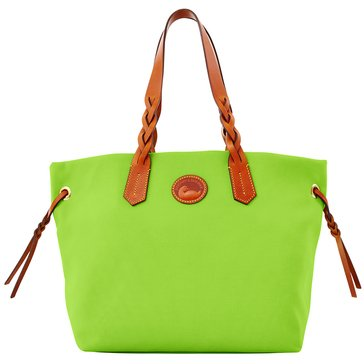 Dooney & Bourke Nylon Shopper Tote Apple Green