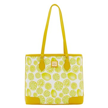 Dooney & Bourke Lemon Print Richmond Shopper White