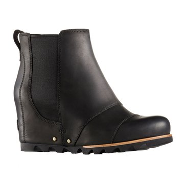 Sorel Lea Wedge Women's Waterproof Slip On Bootie Black Quarry