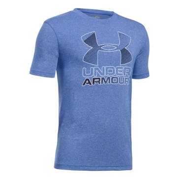 Under Armour Big Boys' 2.0 Big Logo Hybrid Tee