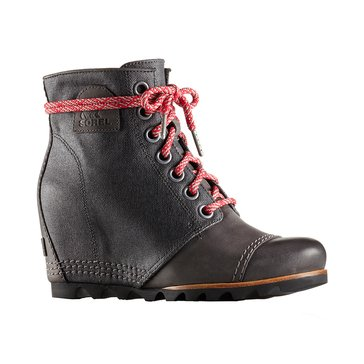 Sorel Pdx Wedge Women's Waterproof Lace Up Bootie Dark Grey