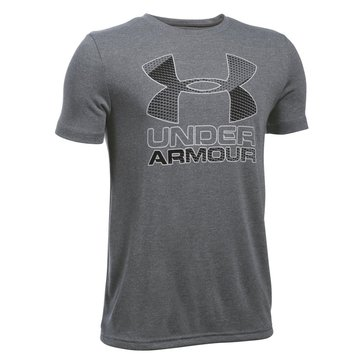 Under Armour Big Boys' 2.0 Big Logo Hybrid Tee, Graphite