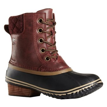 Sorel Slimpack II Lace Women's Waterproof Leather Boot Redwood