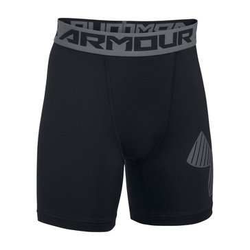 Under Armour Big Boys' MID Shorts, Black
