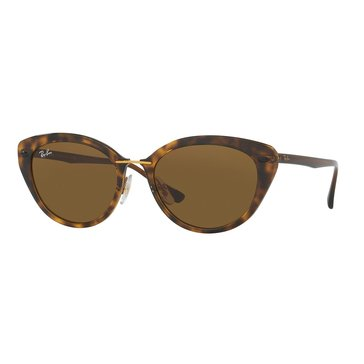 Ray-Ban Women's Sunglasses RB4250, Brown/ Brown Classic B-15 52mm