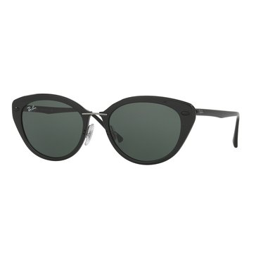 Ray-Ban Women's Sunglasses RB4250, Black/ Green 52mm