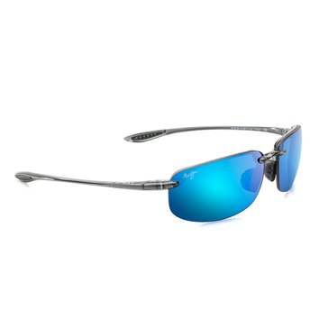 Maui Jim Unisex Ho'okipa Polarized Sunglasses B407-11, Smoke Grey/ Blue Hawaii 64mm