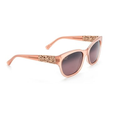 Maui Jim Women's Monstera Leaf Guava Pink With Rose Gold Accents Rose Lens Sunglasses 57mm