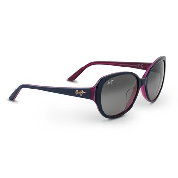 Maui Jim Women's Swept Away Blue Frame With Rasberry Interior Grey Lens Sunglasses 56mm