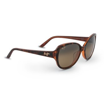 Maui Jim Women's Swept Away Tort Frame With Caramel Interior Bronze Lens Sunglasses 56mm