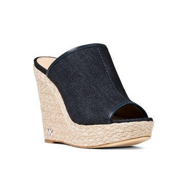 Michael Kors Hastings Mule Women's Sandal Dark Denim