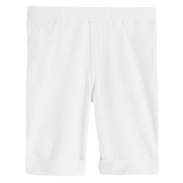 Epic Threads Little Girls' Solid Bermuda Shorts, White