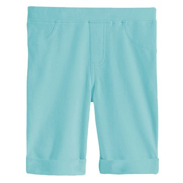 Epic Threads Little Girls' Solid Bermuda Shorts, Blue