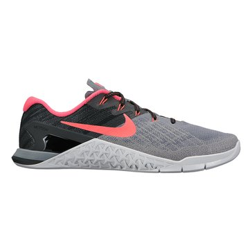 Nike Metcon 3 Women's Training Shoe Cool Grey/ Solar Red/ Black/ Pure Platinum