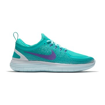 Nike Free Distance RN 2 Women's Running Shoe Light Aqua/ Hyper Grape/ Clear Jade