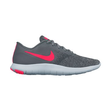 Nike Flex Contact Women's Running Shoe Cool Grey/ Solar Red/ Anthracite