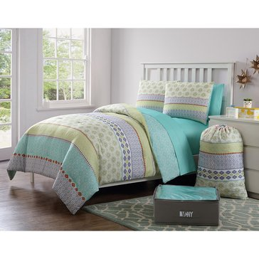 Boho 11-Piece Comforter Dorm Kit - Full