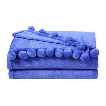 Pom Pom Throw, Blue