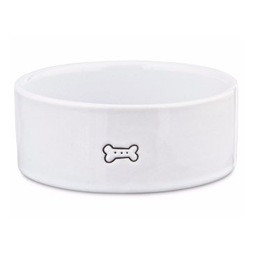 Harmony 1-Cup Good Dog Ceramic Dog Bowl