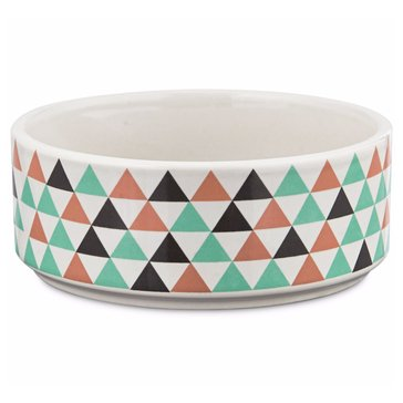Harmony 3-Cup Ceramic Boho Dog Bowl