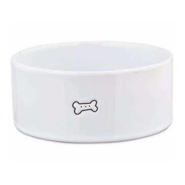 Harmony 3-Cup Good Dog Ceramic Dog Bowl