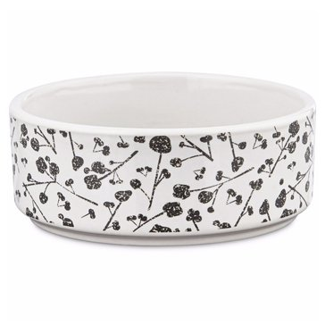 Harmony 3-Cup Floral Ceramic Dog Bowl
