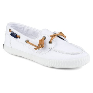 Sperry Top-Sider Sayel Away Washed Canvas Women's Boat Shoe White