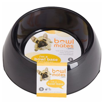 Bowlmates 1.75-Cup Round Base, Black