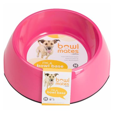 Bowlmates 3-Cup Round Base, Pink