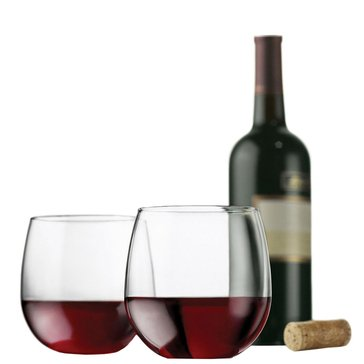 Libbey Vina Stemless Red Wine Glasses, Set of 4