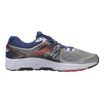 Saucony Omni 16 Men's Running Shoe Grey/ Navy/ Orange