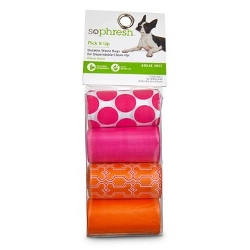 So Phresh Pick It Up Scented Waste Bags, Pink/Orange, 120-Count