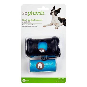 So Phresh Pick It Up Bone Shaped Dog Bag Dispenser with Refill, 30-Count