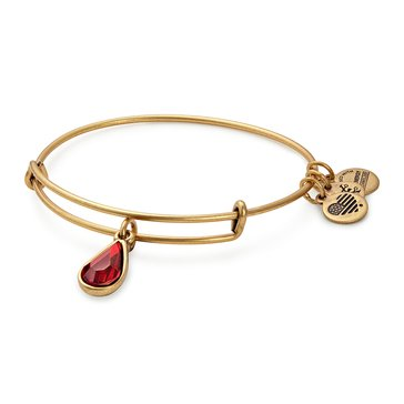 Alex and Ani January Birth Month Expandable Bangle with Garnet Swarovski Crystal, Gold Finish