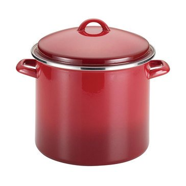 Rachael Ray 12-Quart Stockpot With EOS Lid, Red