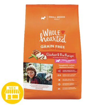 WholeHearted Small Breed Adult Dog Food - Grain Free, Chicken & Pea, 6 lbs.