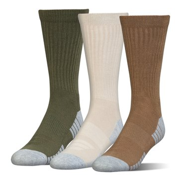 Under Armour Men's Heat Gear Crew Socks 3-Pack - Coyote Assortment
