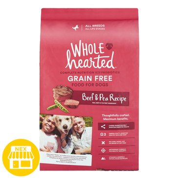 WholeHearted All Life Stages Dog Food - Grain Free, Beef & Pea, 14 lbs.