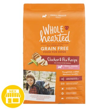 WholeHearted Small Breed Adult Dog Food - Grain Free, Chicken & Pea, 14 lbs.