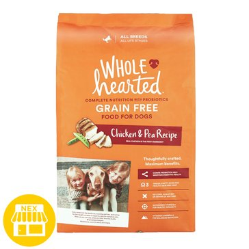 WholeHearted All Life Stages Dog Food - Grain Free, Chicken & Pea, 14 lbs.