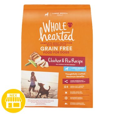 WholeHearted Large Breed Adult Dog Food - Grain Free, Chicken & Pea, 25 lbs.