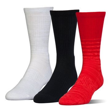 Under Armour Men's Phenom Twisted Crew Socks 3-Pack - Red Assorted