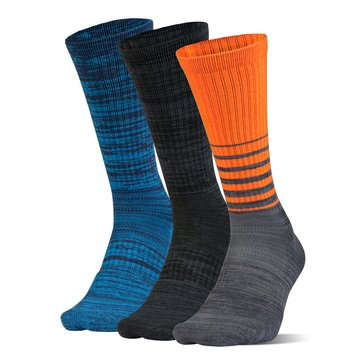 Under Armour Men's Phenom Twisted Crew Socks 3-Pack - Orange Assorted