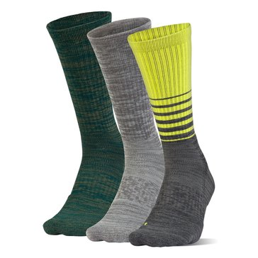 Under Armour Men's Phenom Twisted Crew Socks 3-Pack - Lime Assorted