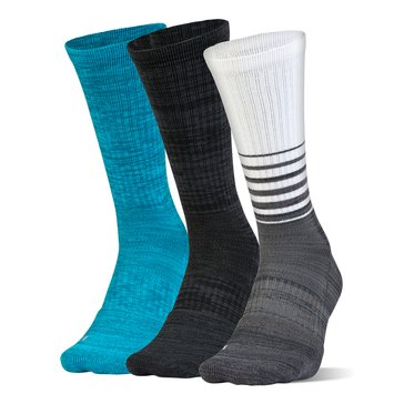 Under Armour Men's Phenom Twisted Crew Socks 3-Pack - Graphite Assorted